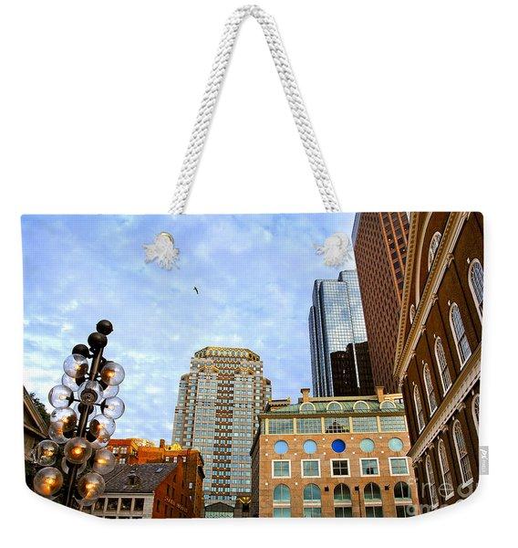 Boston Downtown Weekender Tote Bag
