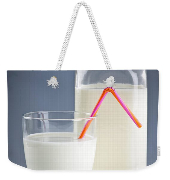 Bottle And Glass Of Milk Weekender Tote Bag