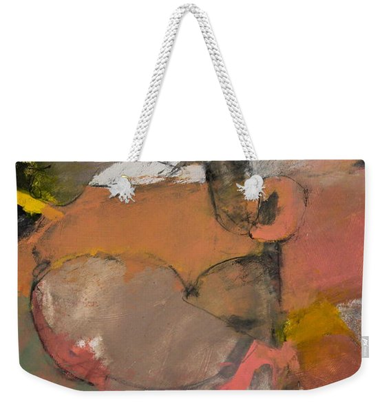 Weekender Tote Bag featuring the painting Breastbone by Cliff Spohn