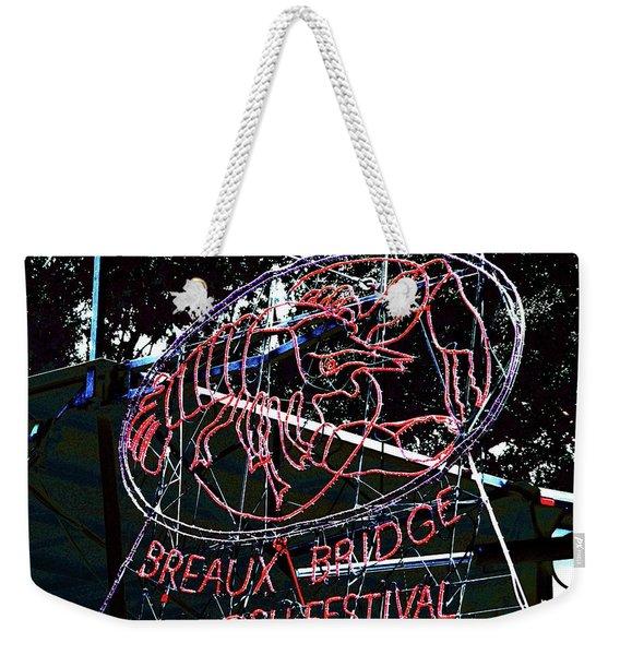 Breaux Bridge Crawfish Festival Weekender Tote Bag