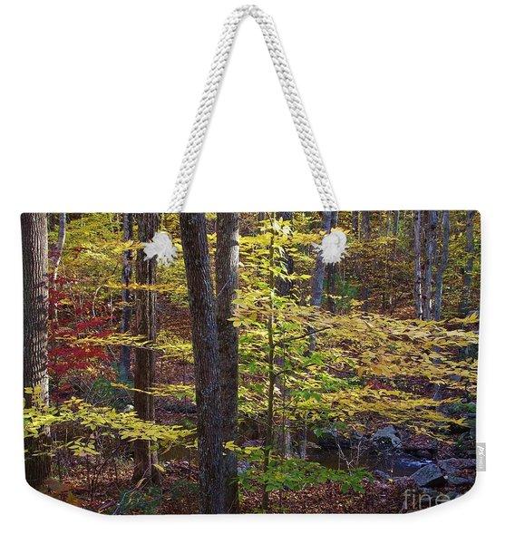 Brook Side Calm Weekender Tote Bag