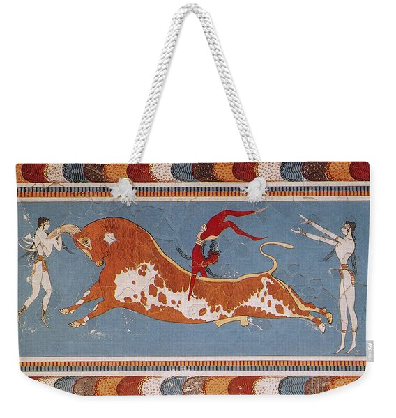 Bull-leaping Fresco From Minoan Culture Weekender Tote Bag