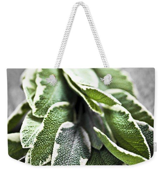 Bunch Of Fresh Sage Weekender Tote Bag