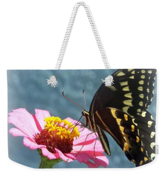 Weekender Tote Bag featuring the photograph Butterfly by Cynthia Amaral
