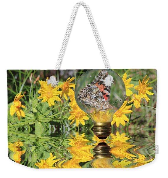 Butterfly In A Bulb II - Landscape Weekender Tote Bag
