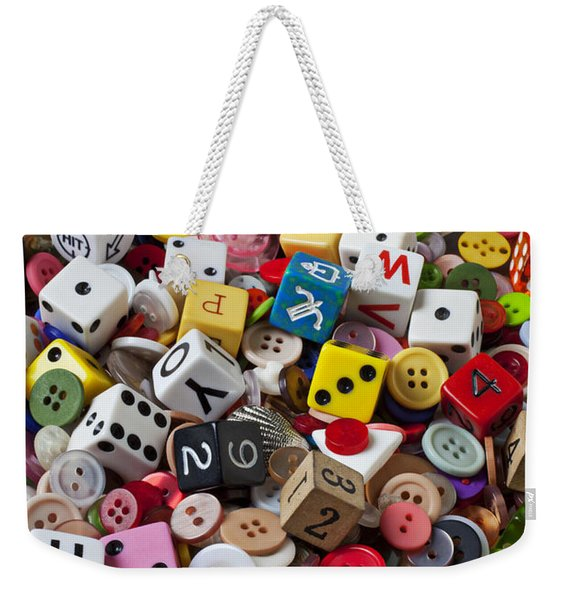 Buttons And Dice Weekender Tote Bag