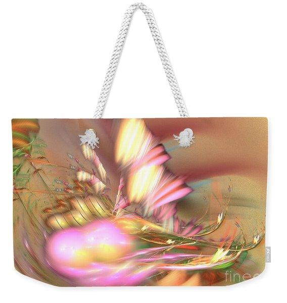 By The Field - Abstract Art Weekender Tote Bag