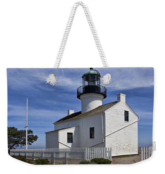 Cabrillo National Monument Lighthouse In San Diego Weekender Tote Bag