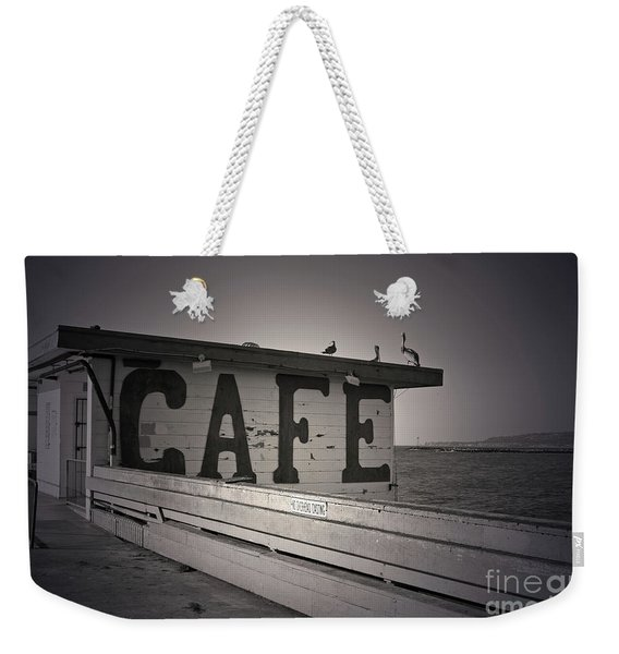 Cafe On The Pier Weekender Tote Bag