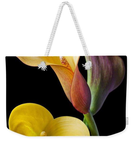 Calla Lilies Still Life Weekender Tote Bag