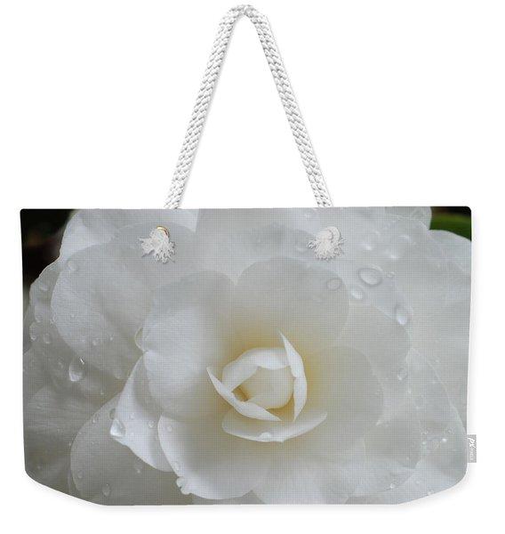 Camellia After Rain Storm Weekender Tote Bag
