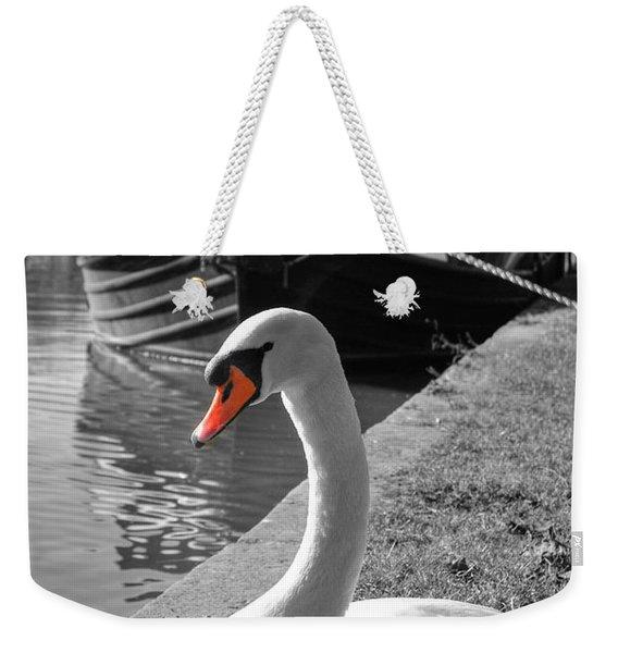 Canal Swan Weekender Tote Bag