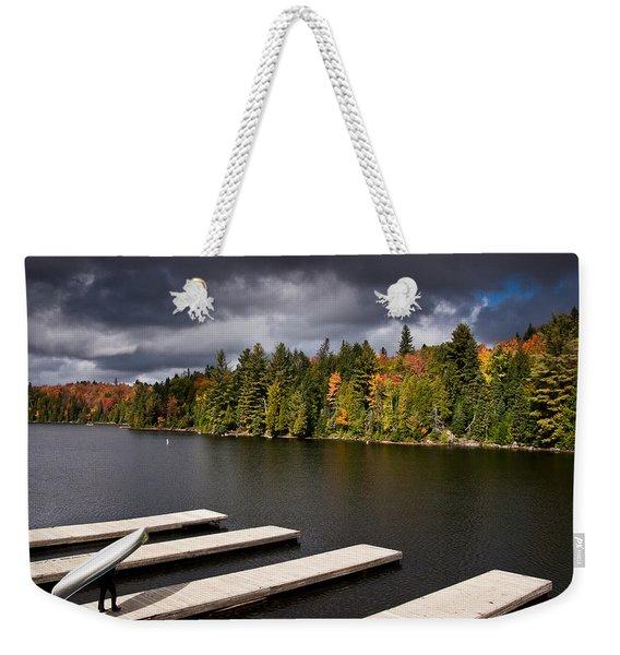 Canoe Lake Weekender Tote Bag
