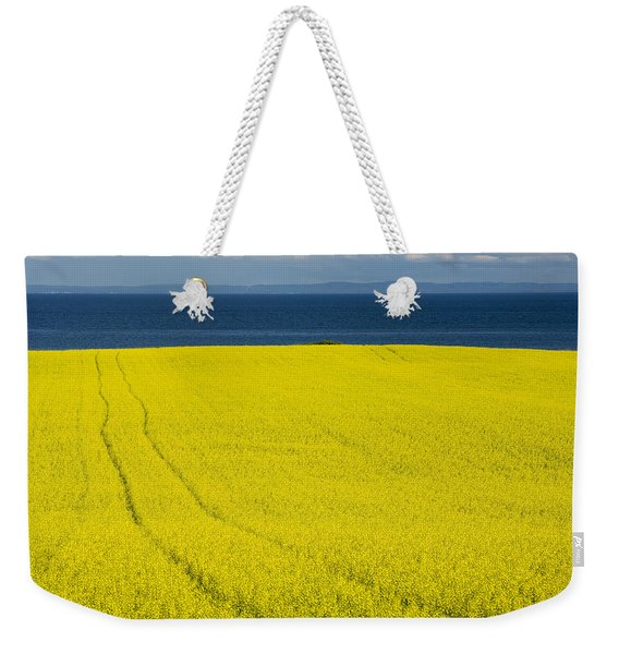 Canola Field, Guernsey Cove, Prince Weekender Tote Bag