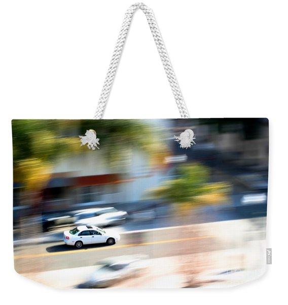 Car In Motion Weekender Tote Bag