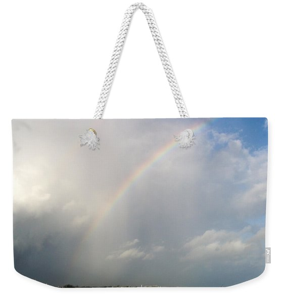 Weekender Tote Bag featuring the photograph Caribbean Rainbow by Cynthia Amaral