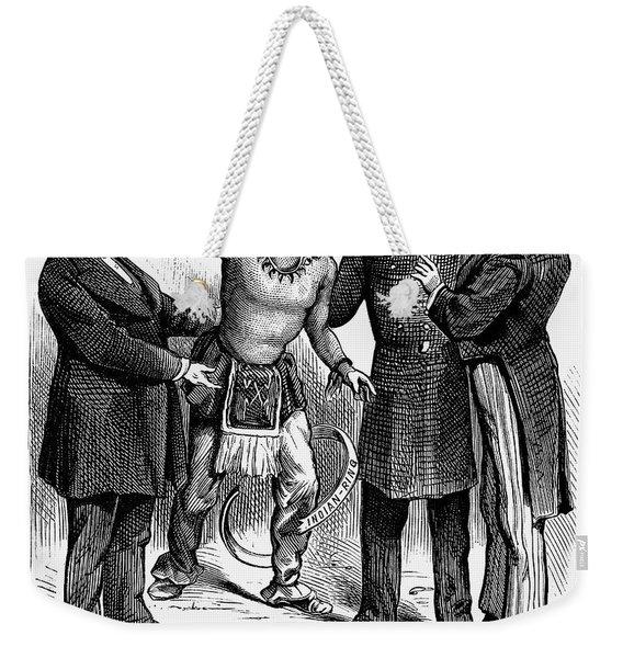 Cartoon: Native Americans, 1876 Weekender Tote Bag