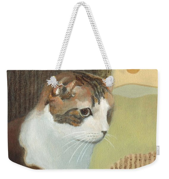 Cat And Sunset Weekender Tote Bag
