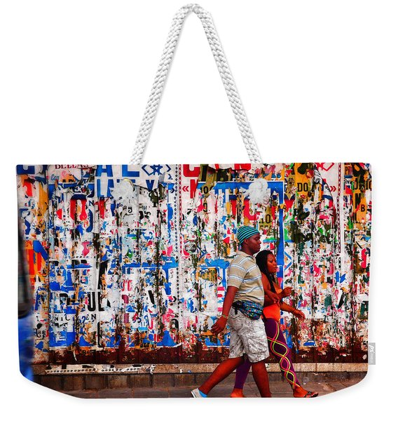 Weekender Tote Bag featuring the photograph Cenal Truckin' by Skip Hunt
