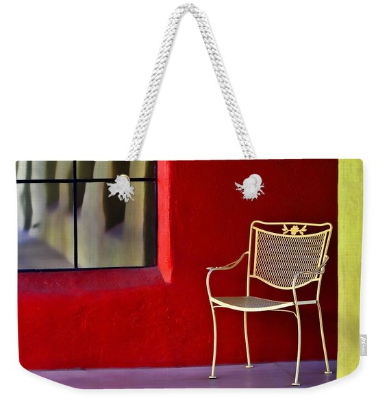 Chair On The Balcony Weekender Tote Bag