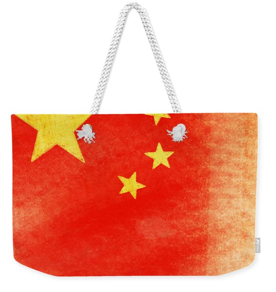 China Flag Weekender Tote Bag