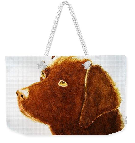 Chocolate Labrador  Weekender Tote Bag