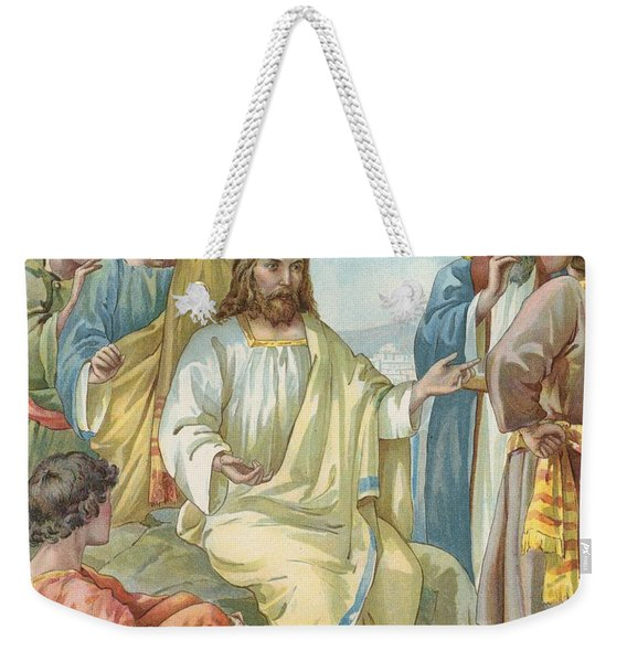 Christ And His Disciples Weekender Tote Bag