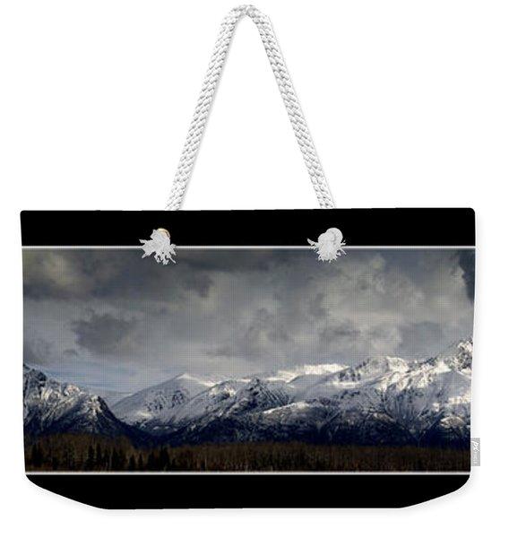 Chugach Mountains Weekender Tote Bag