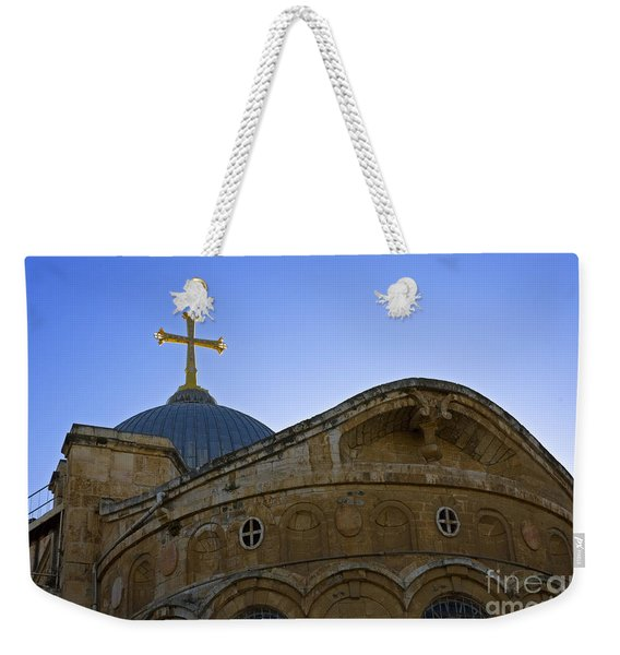church of the Holy Sepulchre Old city Jerusalem Weekender Tote Bag