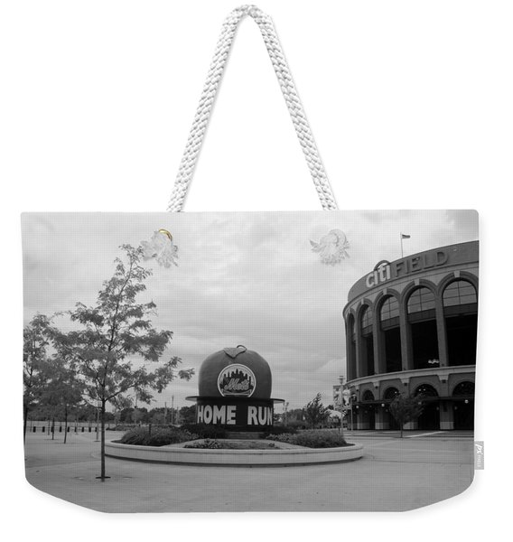 Citi Field In Black And White Weekender Tote Bag