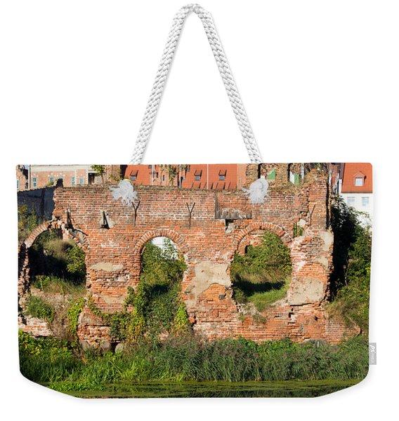 City Of Gdansk In Poland Weekender Tote Bag