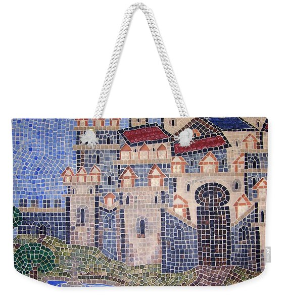 Weekender Tote Bag featuring the painting City Of Granada Old Map by Cynthia Amaral
