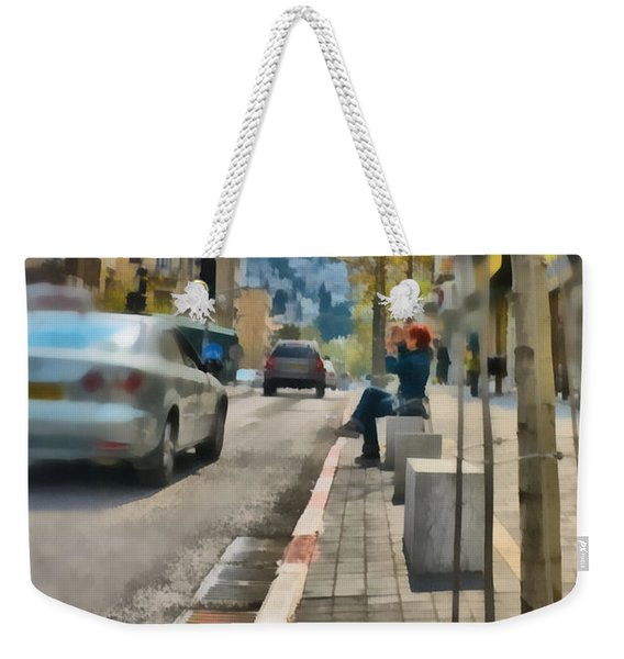 Weekender Tote Bag featuring the photograph City Scene by Michael Goyberg