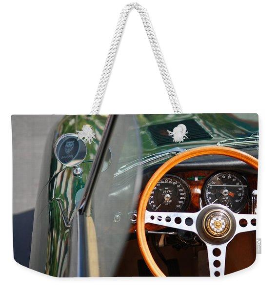 Classic Green Jaguar Artwork Weekender Tote Bag