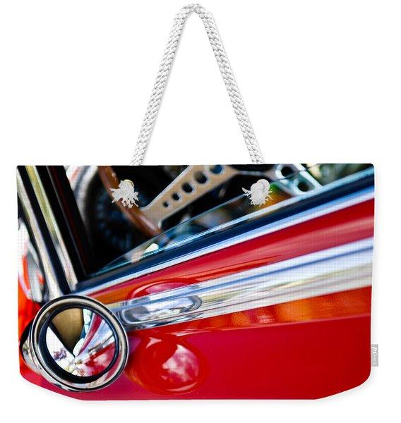 Classic Red Car Artwork Weekender Tote Bag