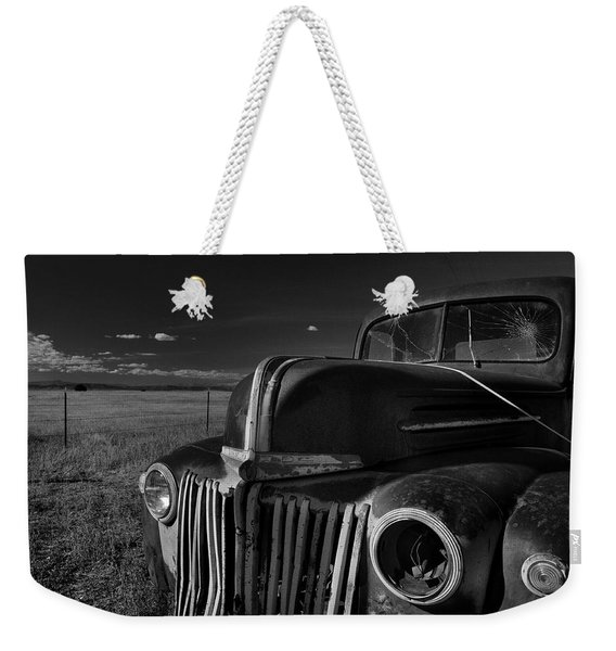 Weekender Tote Bag featuring the photograph Classic Rust by Ron Cline