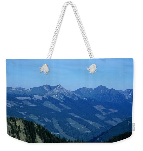 Clear Cut Logging In The Forest Hill Weekender Tote Bag