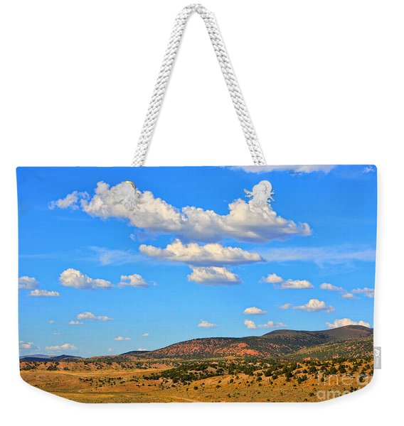 Cloudy Wyoming Sky Weekender Tote Bag