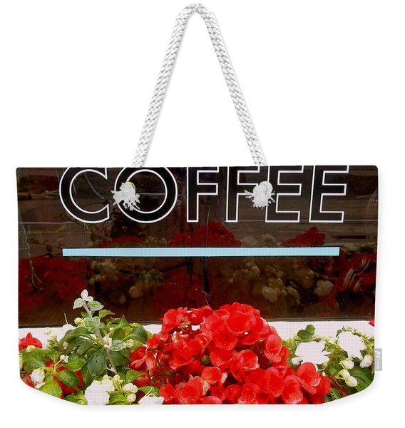 Weekender Tote Bag featuring the photograph Coffee by Cynthia Amaral