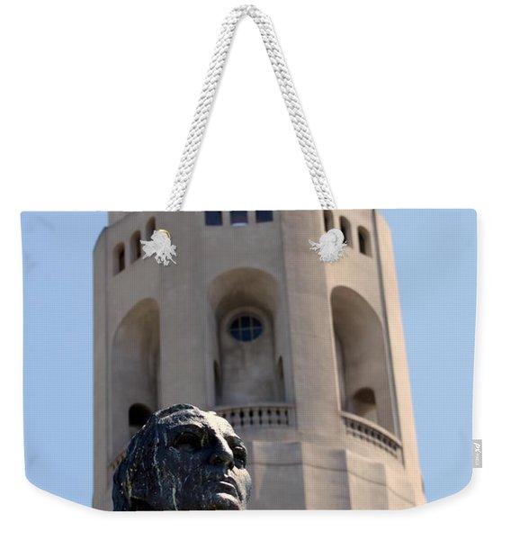 Coit Tower Statue Columbus Weekender Tote Bag