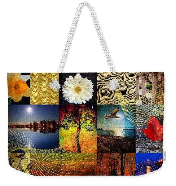 Collage Of Colors Weekender Tote Bag
