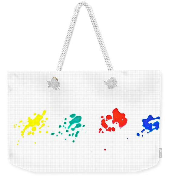 Color Splash Weekender Tote Bag