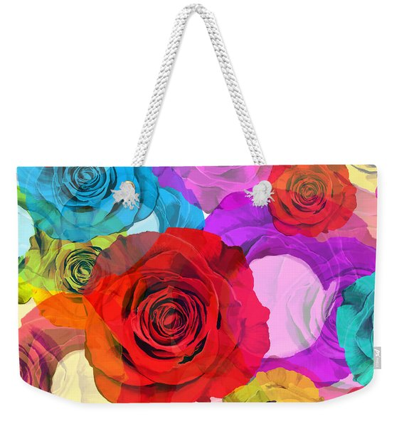 Colorful Floral Design  Weekender Tote Bag