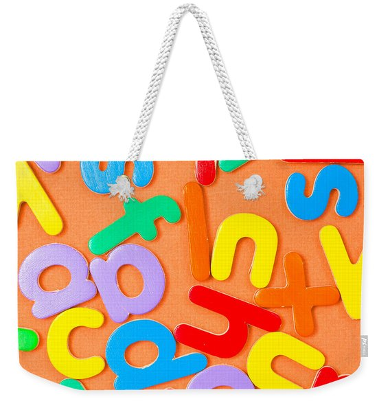 Colorful Letters Weekender Tote Bag
