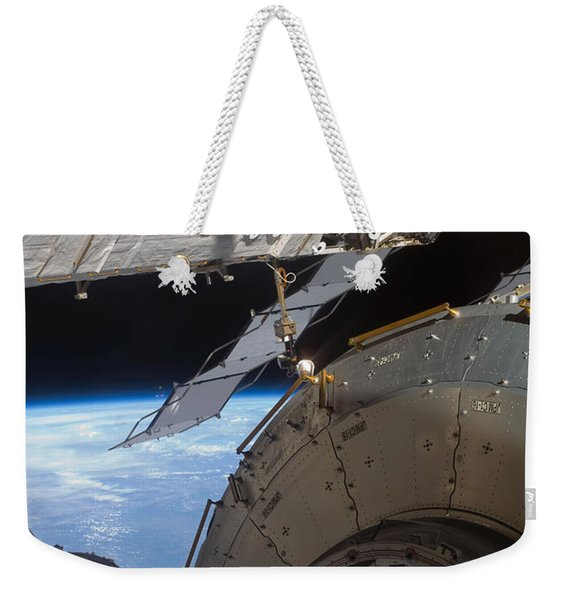 Components Of The International Space Weekender Tote Bag