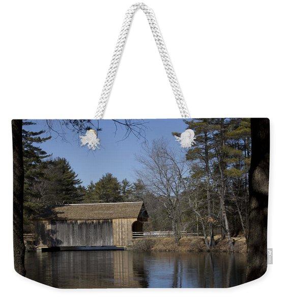 Cool Winter Morning Weekender Tote Bag