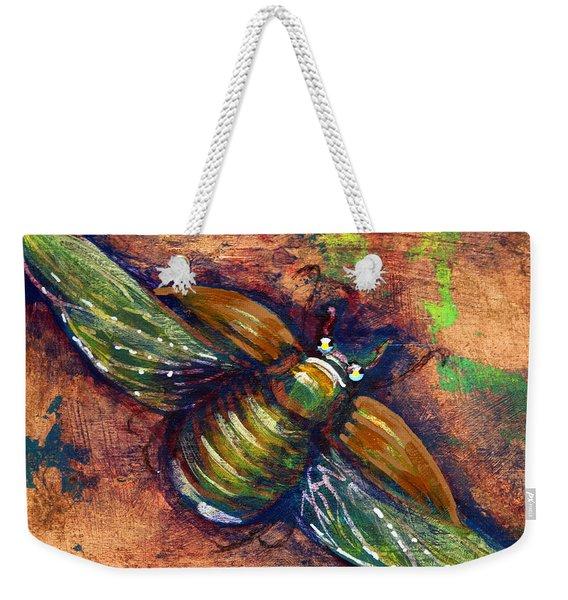 Copper Beetle Weekender Tote Bag