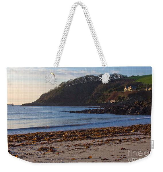 Cornish Seascape Meanporth Weekender Tote Bag