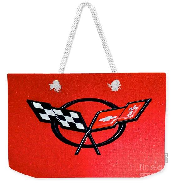 Corvette Logo Weekender Tote Bag