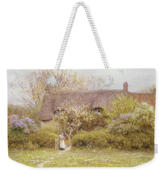 Cottage Freshwater Isle Of Wight Weekender Tote Bag